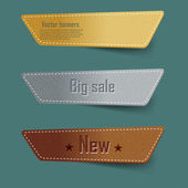 Banners tags labels — Stock Vector