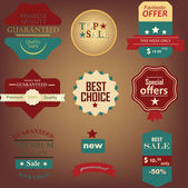 Labels extra — Stock Vector