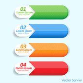 Banner 4 komada — Stock Vector