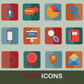 Flat icons set 2 — Stock Vector