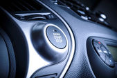 Start stop ignition button in car, vehicle. — Stock Photo
