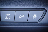 4WD drive and other safety systems switching buttons. — Stock Photo