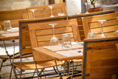 Table in old town restaurant. — Stock Photo