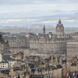Fragment of old town centre in Edinburgh, capital of Scotland. — Stock Photo