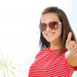 Teen girl showing ok — Stock Photo #41058295