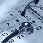 A stethoscope over a calendar — Stock Photo #41059679