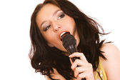 Woman Singing — Stock Photo