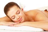 Woman getting spa treatment — Stock Photo