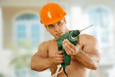 Worker Bodybuilder — Stock Photo