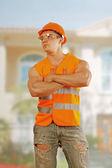 Worker Bodybuilder — Stock Photo