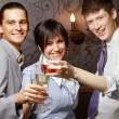 Businesspeople celebrating victory — Stock Photo #41145551