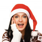 Surprised Santa Claus — Stock Photo