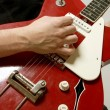 Closeup of guitarist playing — Stock Photo #41148881