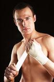 Portrait of boxer — Stock Photo