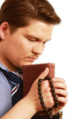 Joven empresario rezando — Foto de Stock