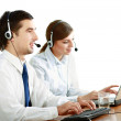Young people working in a call center — Stock Photo #41176063