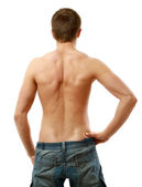 Back view of sexy muscular man — Stock Photo