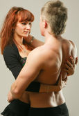 Temptation woman and man — Stock Photo