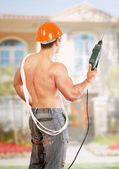 Young constructor — Stock Photo