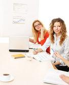 Working women is sitting — Stock Photo