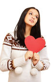Heart on the palm - love symbol — Stock Photo