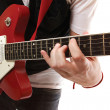 Stock Photo: Closeup of guitarist playing