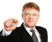 Businessman pointing at you — Stock Photo