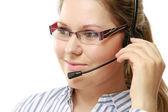 Female customer service consultant — Stock Photo