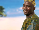 Young positive african male — Stock Photo