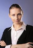 Portrait of beautiful business woman — Photo