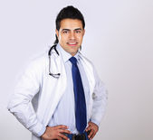Smiling doctor with stethoscope — Stock Photo