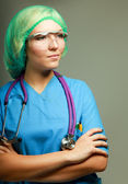 A female doctor in uniform — Stock Photo