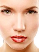 Professional Make-up. Lipgloss. — Stock Photo