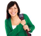 Female student with bag — Stock Photo