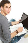 Jovem estudando — Fotografia Stock