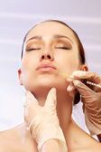Cosmetic medicine. Injection — Stock Photo