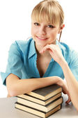 Young college girl studying — Stock Photo