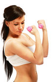 Young fitness woman exercising — Stock Photo