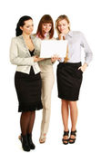 Businesswomen with a laptop — Stock Photo