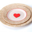 Red heart in plate — Stock Photo #41192529