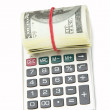 Money and calculator — Stock Photo #41192865