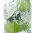 Mint, lime in glass — Stock Photo