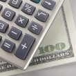 Calculator and money — Stock Photo #41194017