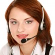 Business woman with headset. — Stock Photo #41197719