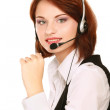 Business woman with headset. — Stock Photo #41197727
