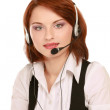 Business woman with headset — Stock Photo #41198641