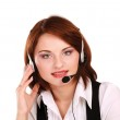 Business woman with headset — Stock Photo #41198645