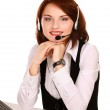 Business woman with headset — Stock Photo #41198651
