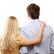 Couple, a back view — Stock Photo #41199759