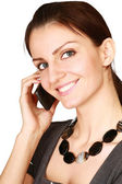Young woman talking on the phone, — Stock Photo